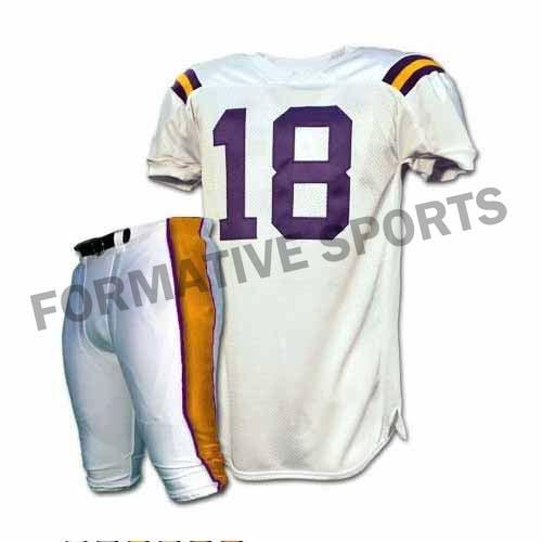 Custom American Football Uniforms Manufacturers and Suppliers