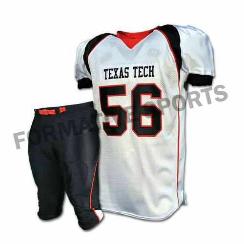 Customised American Football Uniforms Manufacturers USA, UK Australia