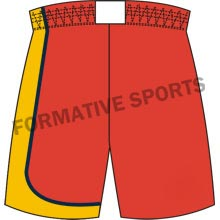 Custom Cut And Sew Basketball ShortsExporters in Orange