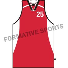 Sublimated Cut N Sew Basketball SingletsExporters in Fiji
