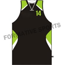 Customised Custom Sublimated Cut N Sew Basketball Singlets Manufacturers