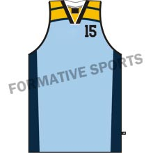Customised Cut And Sew Basketball Team Singlet Manufacturers
