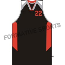 Customised Sublimation Cut And Sew Basketball Singlets Manufacturers