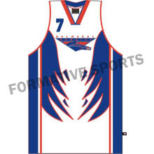 Customised Sublimated Basketball Team Singlet Manufacturers USA, UK Australia