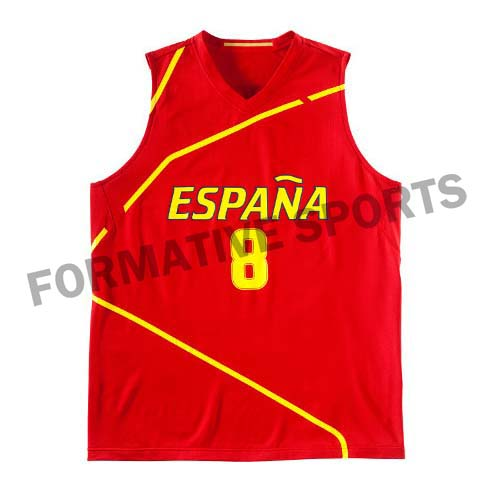Customised Cut N Sew Basketball Jersey Manufacturers in Melton