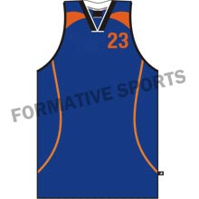 Customised Cut And Sew Basketball Singlets Manufacturers