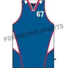 Customised Custom Cut And Sew Basketball Singlets Manufacturers USA, UK Australia