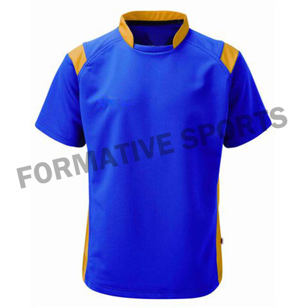 Customised Sublimation Cut And Sew Rugby Jersey Manufacturers in Albania