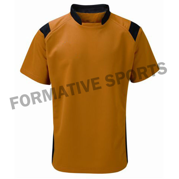 Customised Custom Cut And Sew Rugby Jersey Manufacturers in Albania