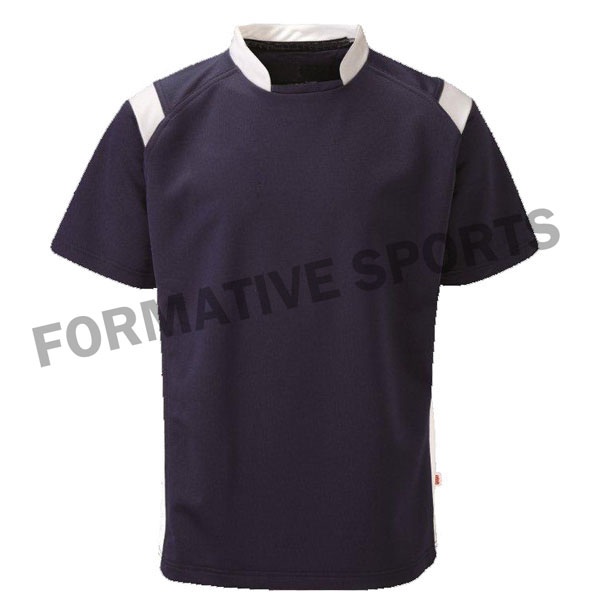 Customised Sublimated Cut And Sew Rugby Jersey Manufacturers in Myanmar