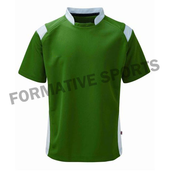 Customised Cut And Sew Rugby Team Jersey Manufacturers in Novosibirsk