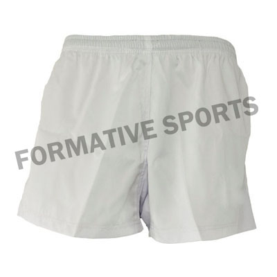 Customised Cut N Sew Rugby Shorts Manufacturers USA, UK Australia