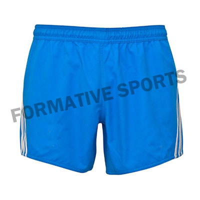 Customised Custom Cut And Sew Rugby Shorts Manufacturers