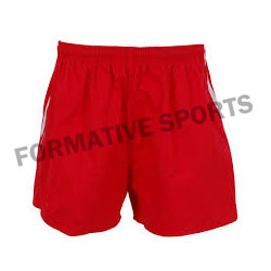 Customised Sublimated Cut And Sew Rugby Shorts Manufacturers USA, UK Australia