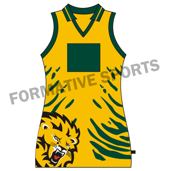 Customised Sublimation Netball Tops Manufacturers in Congo