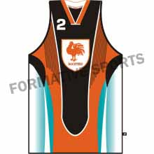 Customised Sublimation Basketball Singlets Manufacturers in Melton