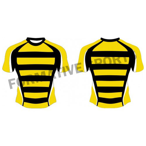 Customised Custom Sublimation Rugby Jersey Manufacturers in Sweden